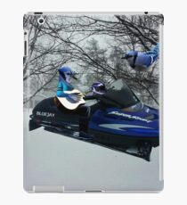 BLUE JAY ON ON SKI-DOO-- PLAYS GUITAR SERENADES MATE --VARIOUS FUN BLUE JAYS APPAREL... iPad Case/Skin