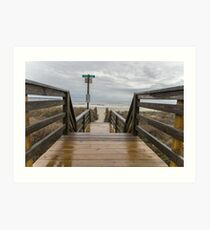 Moody storm path to the Beach Art Print