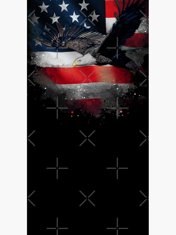 American Bald Eagle with US Flag by YouthFun