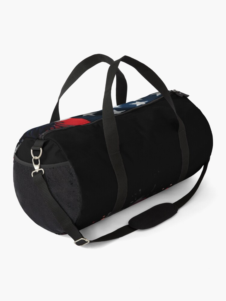 Alternate view of American Bald Eagle with US Flag Duffle Bag