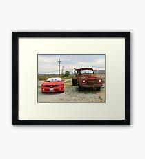 Mater & Lightning McQueen, Galena, Ks Framed Print