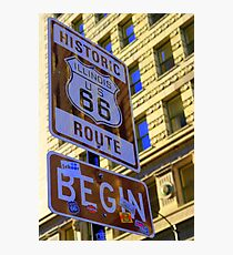 Historic Route 66 begins Photographic Print