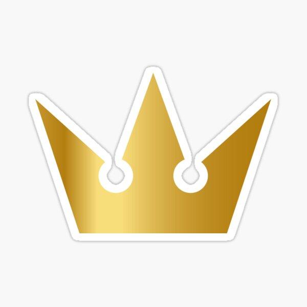 Kingdom Hearts Sora Elegant Crown - Gold Sticker