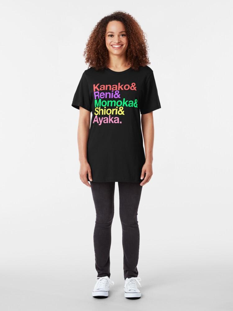 Alternate view of Momoclo goes Helvetica Slim Fit T-Shirt