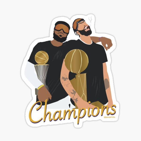LeBron and Anthony Davis Lakers Champions 2020 Minimalist Design // Shirts, Cases, stickers and more Sticker