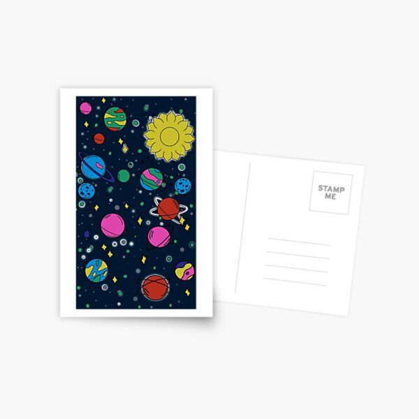 Outer Space Doodles Postcard