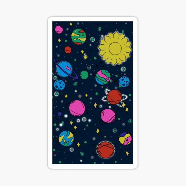 Outer Space Doodles Sticker