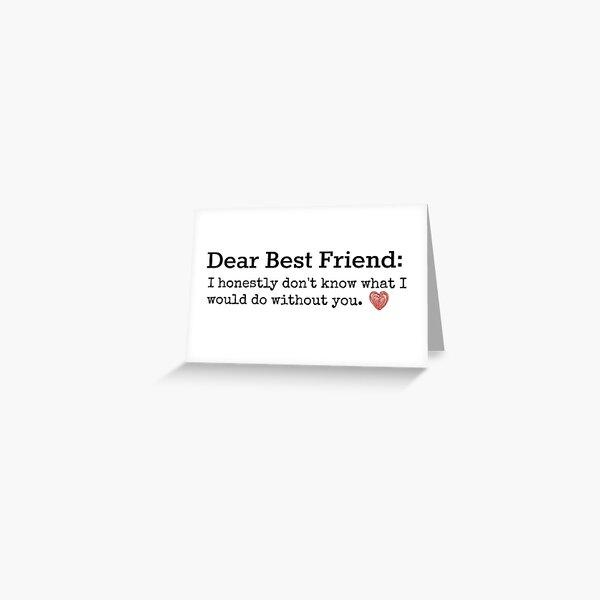 Best friend greeting card sayings