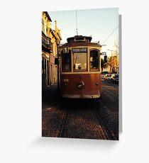 Porto Tram Line 1 Greeting Card