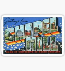 Vintage Chapel Hill Postcard Sitcker Sticker