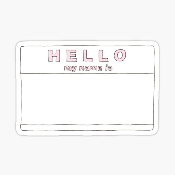 hello my name is pastel 2 Sticker