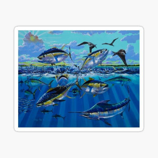 Yellowfin Run Sticker