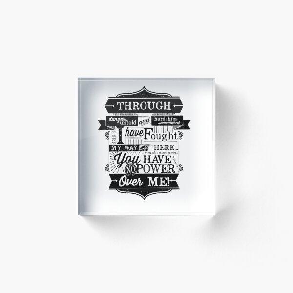 Labyrinth Words Acrylic Block