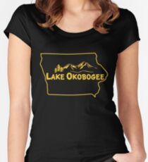 Lake Okobogee, Iowa Women's Fitted Scoop T-Shirt