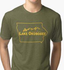 Lake Okobogee, Iowa Tri-blend T-Shirt