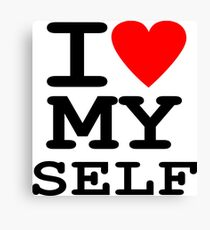 Parody, satire, humour, I heart MY self Canvas Print