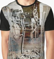 driving cab of an  old steam cog locomotive Graphic T-Shirt