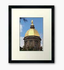 Notre Dame Golden Dome Framed Print