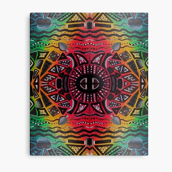 Tribal Rainbow Metal Print