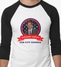 Vote Bobby Newport - Parks And Recreation Men's Baseball ¾ T-Shirt