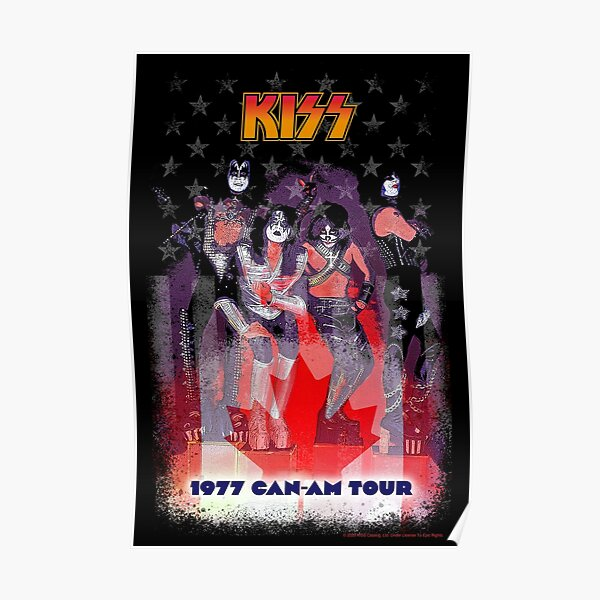KISS Can-Am 77 Tour Poster
