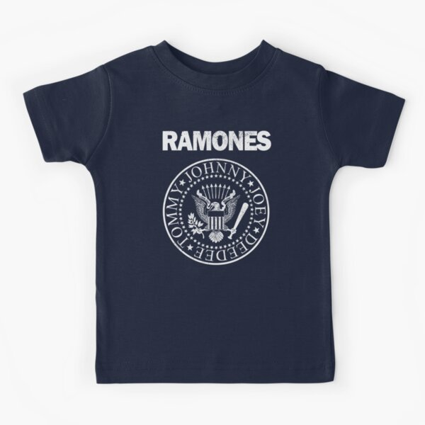 Ramones (white distressed design) Kids T-Shirt
