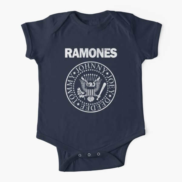 Ramones (white distressed design) Short Sleeve Baby One-Piece