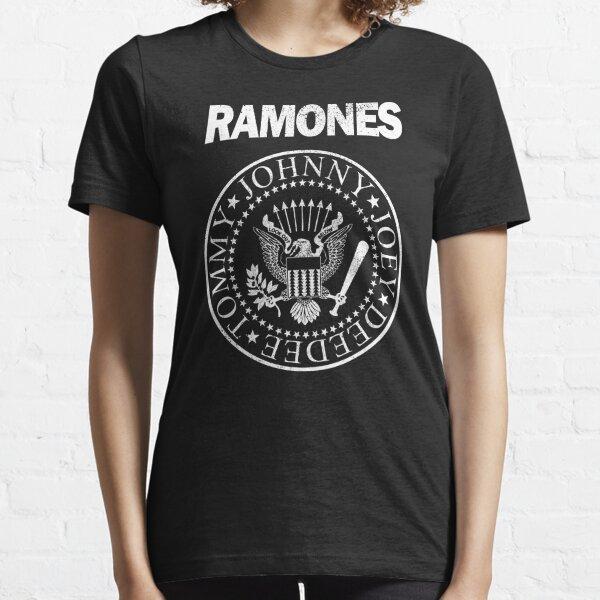 Ramones (diseño blanco apenado) Camiseta esencial