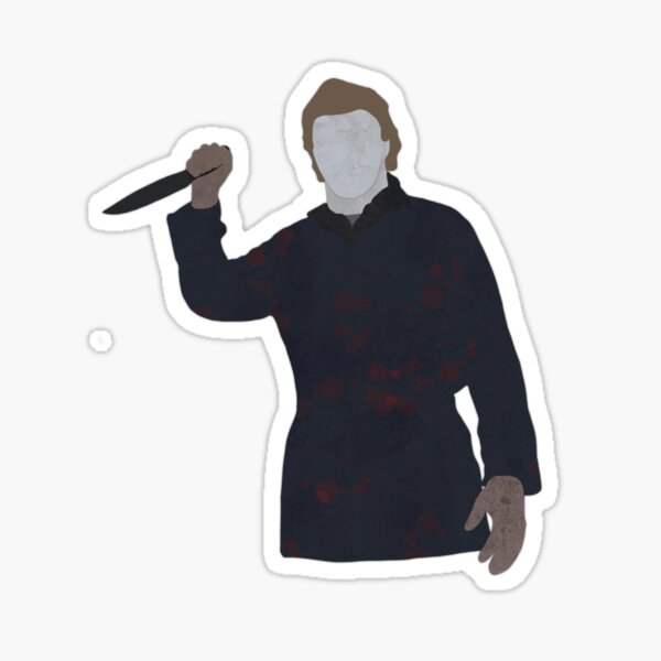 Michael Myers Outline Sticker