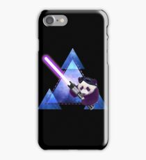 Galactic Panda With Lightsaber iPhone Case/Skin