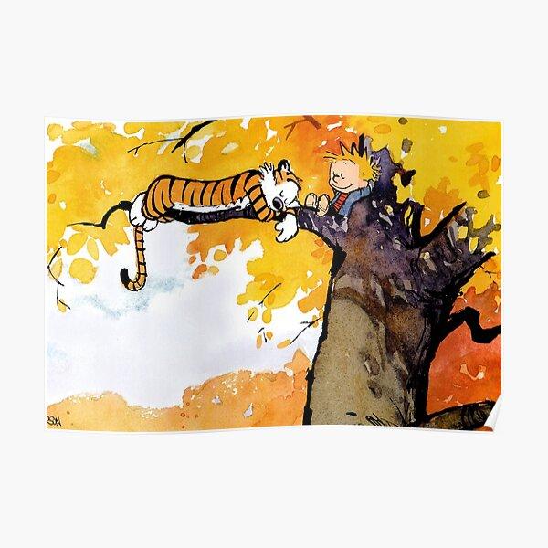 Calvin et Hobbes Bill Watterson toile impression d'Art mural mignon enfants décor Poster
