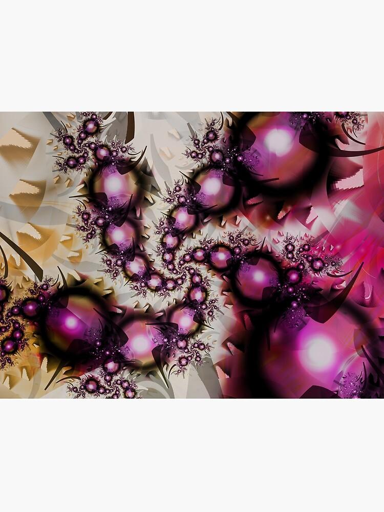 Yellow Pink Spiral Art by garretbohl