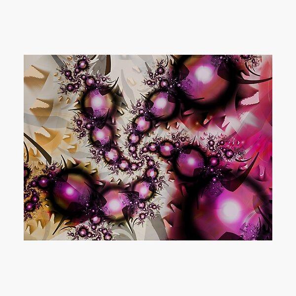 Yellow Pink Spiral Art Photographic Print
