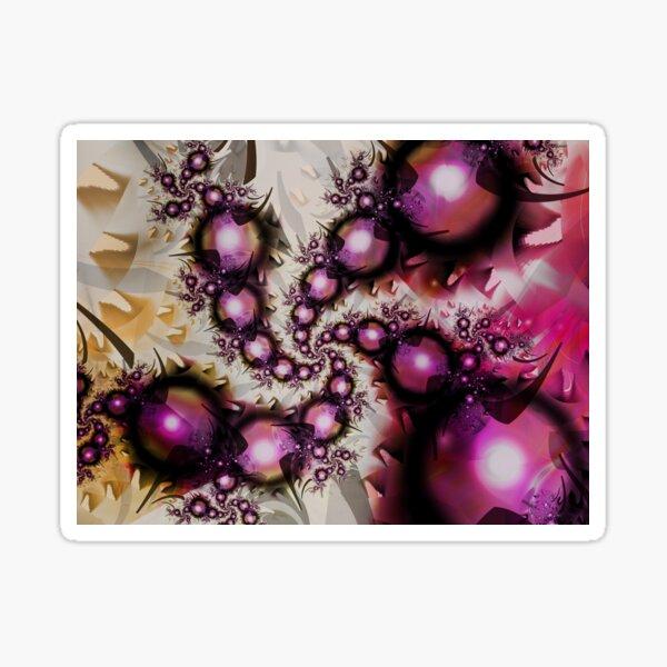 Yellow Pink Spiral Art Sticker