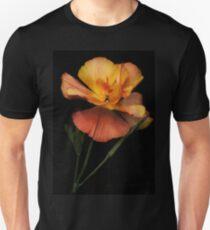 Silky peach coloured Californian Poppy T-Shirt
