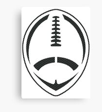 Vector Football - Mesh (Black) Canvas Print