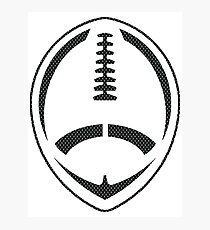 Vector Football - Mesh (Black) Photographic Print
