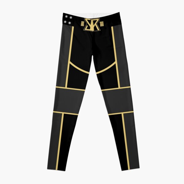 Seth Rollins inspired Black/Gold Wresltemania 31 2015 Leggings