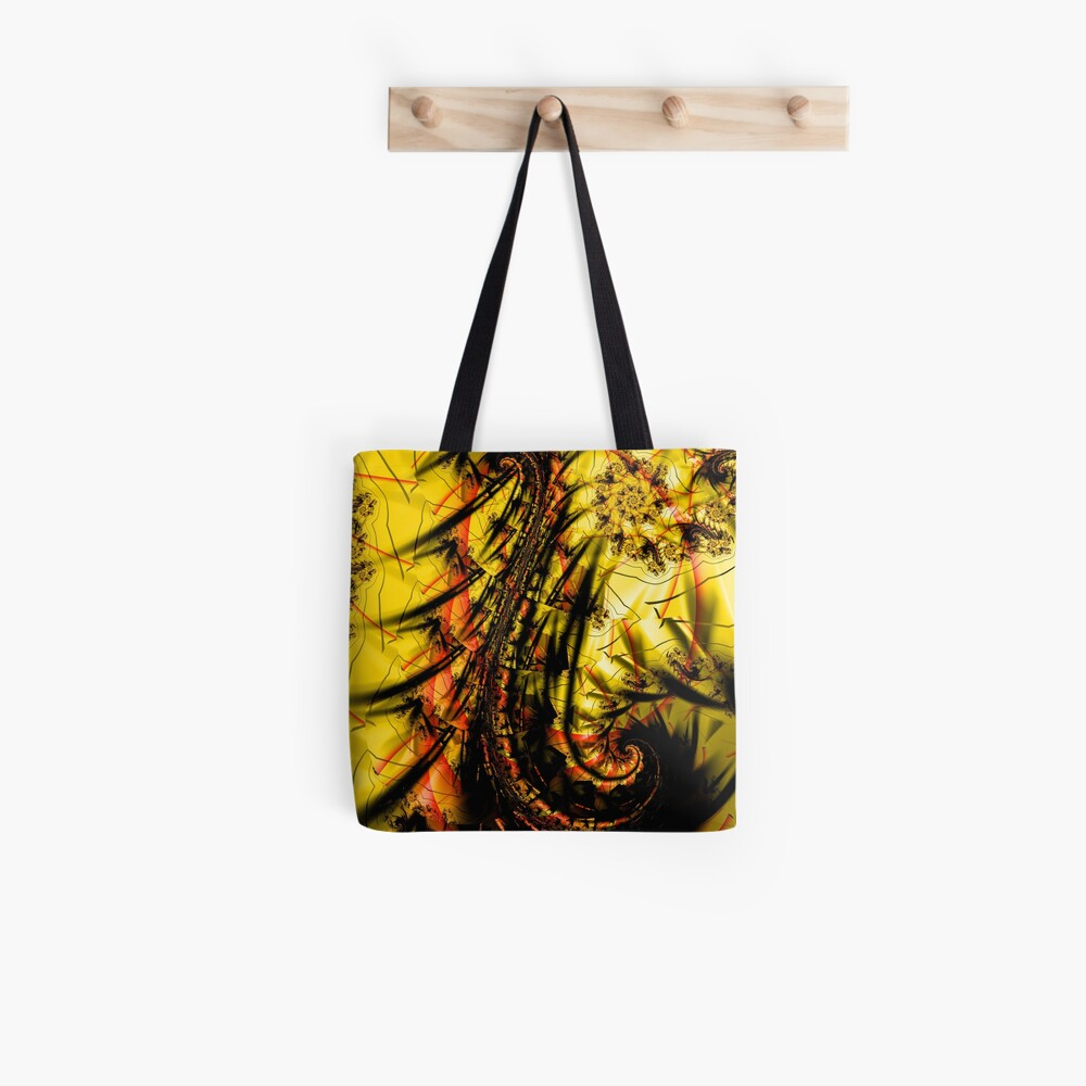 Yellow Symbol Art Design Tote Bag