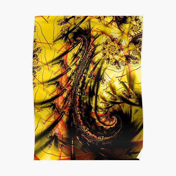 Yellow Symbol Art Design Poster