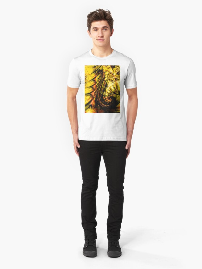 Alternate view of Yellow Symbol Art Design Slim Fit T-Shirt