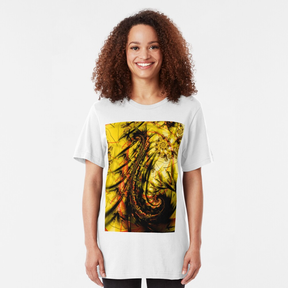 Yellow Symbol Art Design Slim Fit T-Shirt