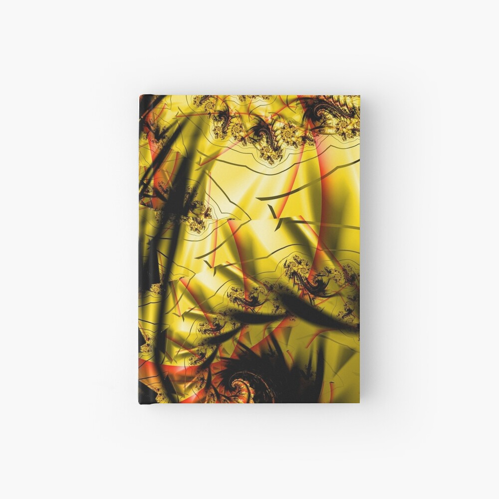 Yellow Symbol Art Design Hardcover Journal