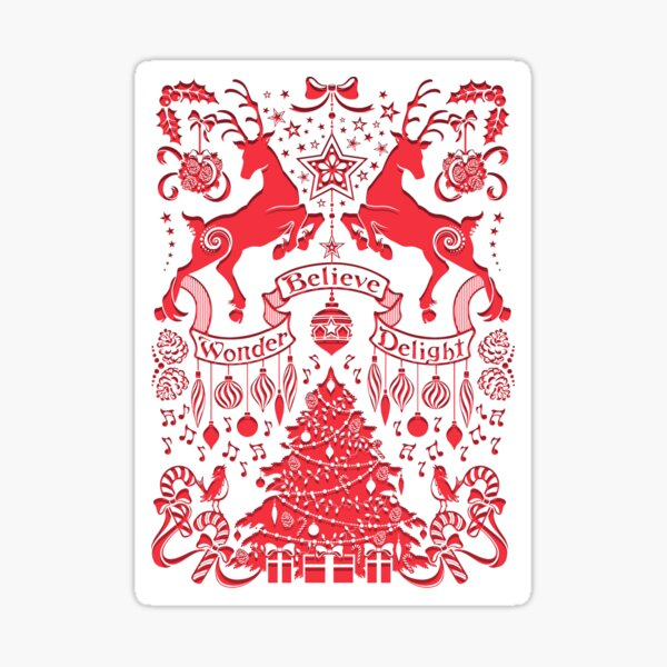 Double Stag Holiday  Sticker