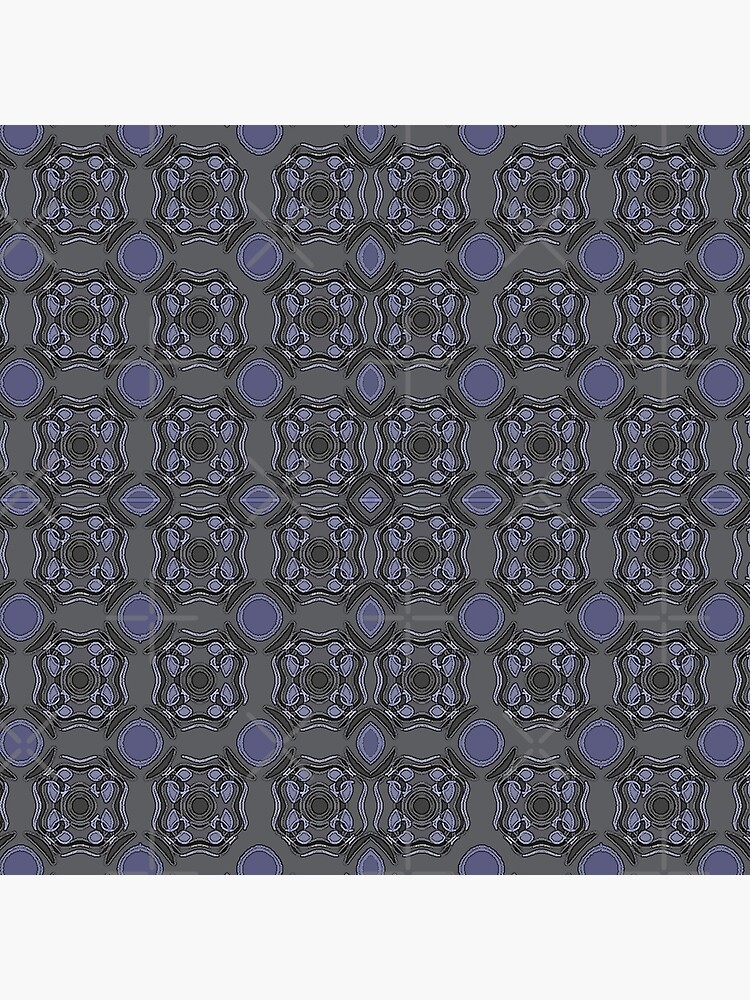 MUTED DARK BLUE ABSTRACT PATTERN BY OZCUSHIONSTOO by ozcushionstoo