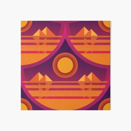 Pyramid Vaporwave Scales Art Board Print