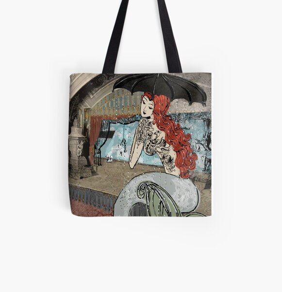 Girl with the birdie tattoo All Over Print Tote Bag