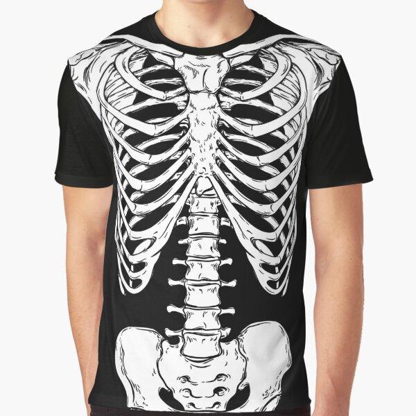Human Ribcage and Hips - Anatomically Correct Human Skeleton Graphic T-Shirt