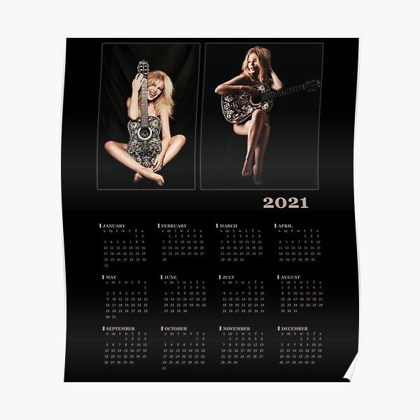 Calendar 2021 Popstar Kylie Minogue Poster