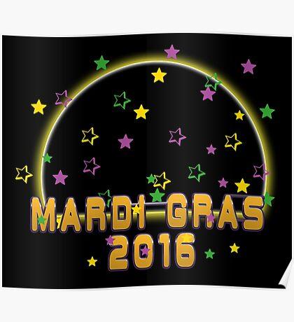 2016 Mardi Gras New Orleans NOLA 2016 Poster
